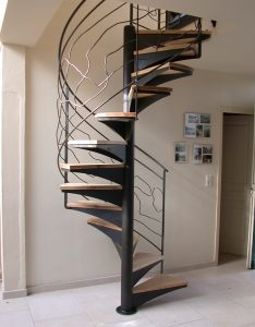 Escalier acier bois Colimaçon design RP métal creation Blanchard google wordpress