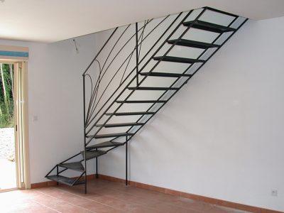 Escaliers un quarts tournants design RP métal creation Blanchard google wordpress