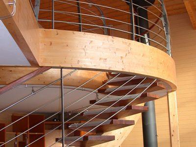 Rampe en acier & bois sur escalier bois design contemporain & ferronnerie d'art RP métal creation Blanchard google wordpress