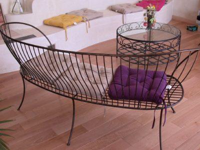 banquette Chaise design en fil de fer acier ciré RP métal creation Blanchard google wordpress