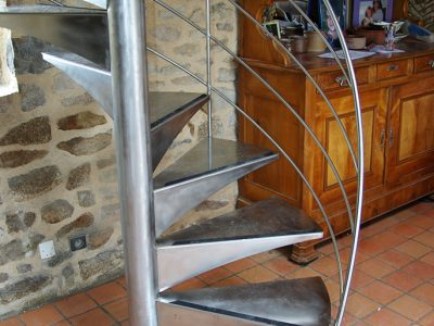 Escalier inox design passerelle RP métal creation Blanchard google wordpress