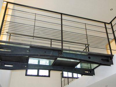 Passerelle design métal acier ciré RP métal creation Blanchard google wordpress