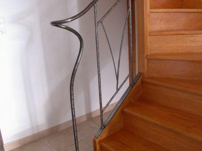 Rampe contemporaine en bronze patine design contemporain RP métal creation Blanchard google wordpress