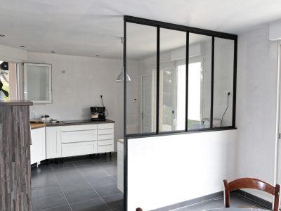 Verrière intérieure en acier design contemporaine cuisine & ferronnerie d'art RP métal creation Blanchard google wordpress