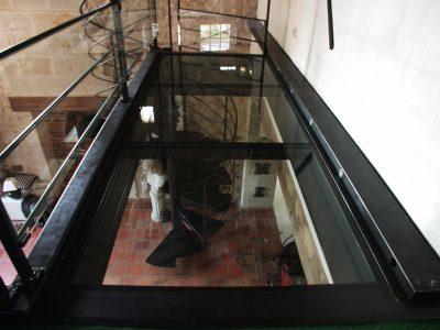 Escalier acier metal passerelle design RP métal creation Blanchard google wordpress