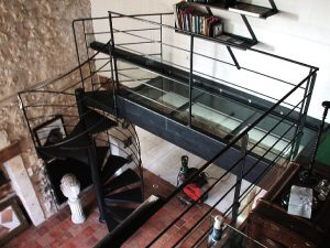 Escalier acier metal passerelle design RP métal creation Blanchard google wordpress
