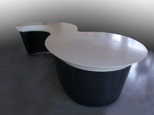 banque d'accueil en Acier ciré design RP métal creation Blanchard google wordpress