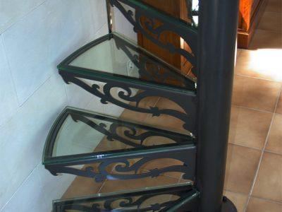 Escalier acier verre Colimaçon design RP métal creation Blanchard google wordpress