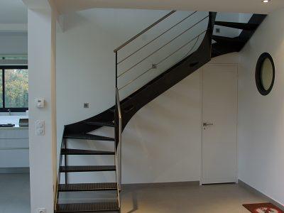 Escalier deux quart tournant acier design RP métal creation Blanchard google wordpress