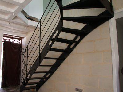 Escalier un quart tournant design RP métal creation Blanchard google wordpress