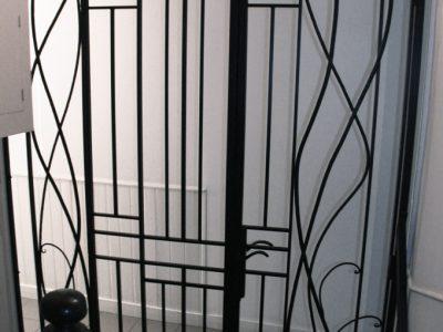 Porte fil de fer forgé en acier et fer design contemporain RP métal creation Blanchard google wordpress