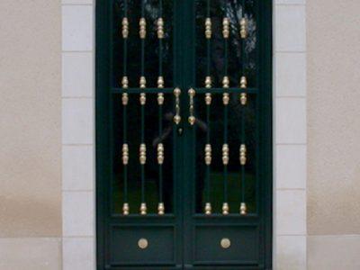 Porte contemporaine en acier et fer design contemporain RP métal creation Blanchard google wordpress
