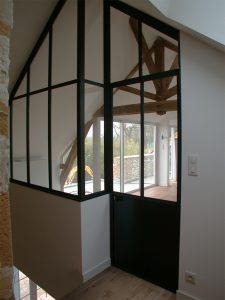 Verrière intérieure en acier design contemporaine & ferronnerie d'art RP métal creation Blanchard google wordpress