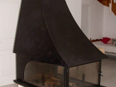 cheminée en acier Design