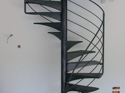 Escalier colimaçon en acier