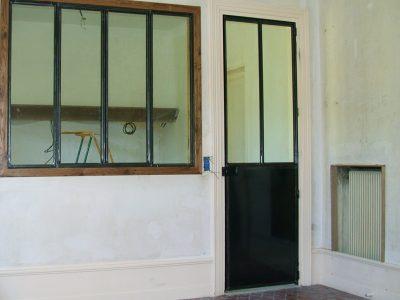 Porte et fenêtre Intérieure en acier