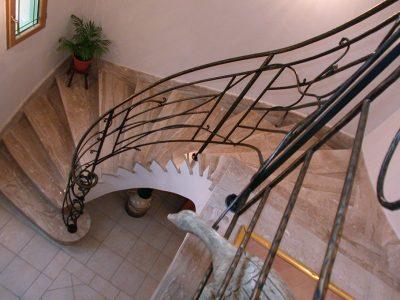 Rampe Design végétale en acier