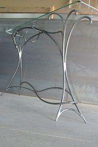 Table Acier et Verre