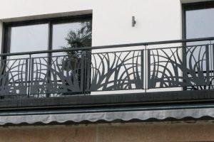 Garde corps avec motifs Design sur Balcon